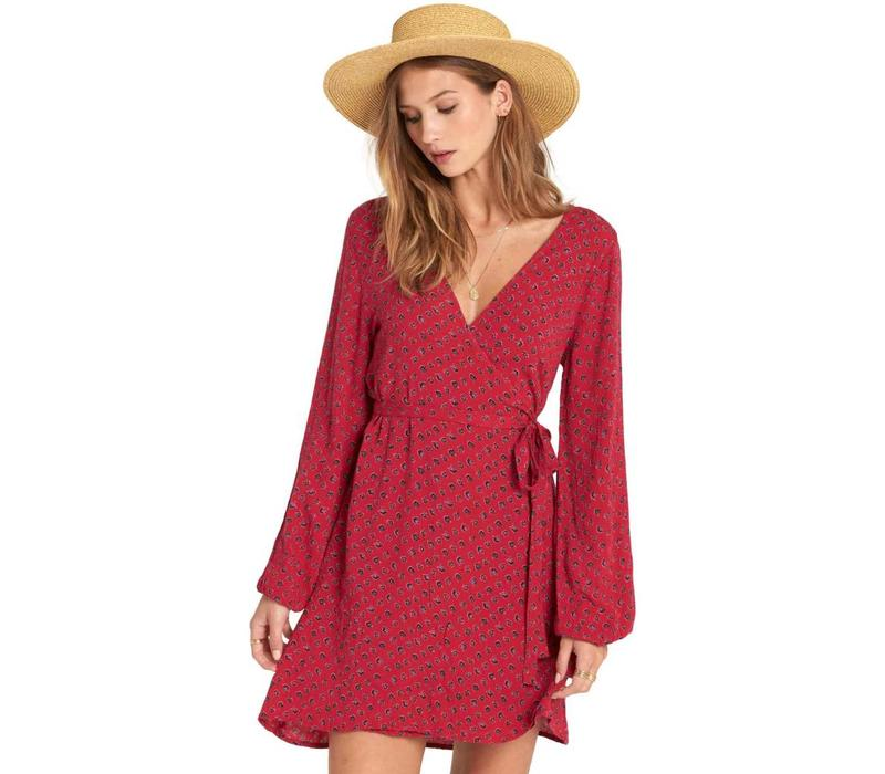 Billabong Love Warrior Dress Crimson