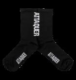Attaquer Socks Vertical Logo Black