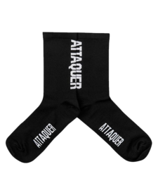 Socks Vertical Logo Black