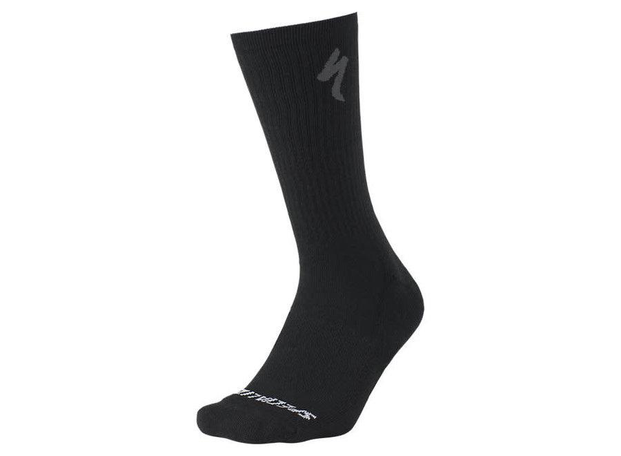 Merino Midweight Tall Sock Black