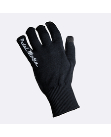 Pedal Mafia Wool Blend Long Finger Glove Blk/Wht