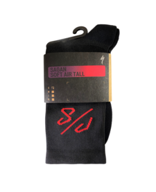 SOFT AIR TALL SOCK - SAGAN COLLECTION DECON RED/BLACK
