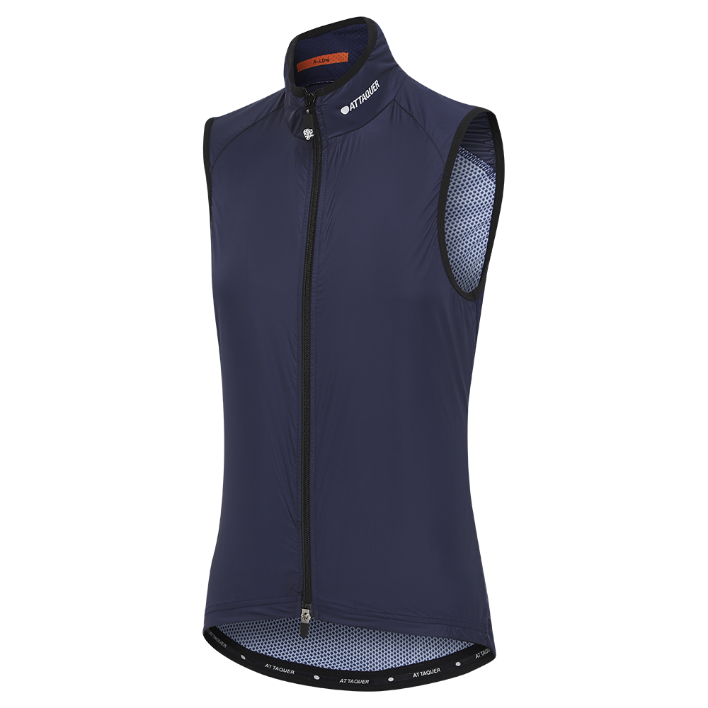 Attaquer Womens A-Line Lightweight Gilet  Navy
