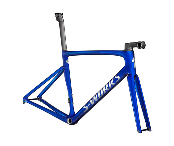 Specialized 2021 S-Works Tarmac SL7 Frameset Blue Tint over Spectraflair/Brushed Chrome