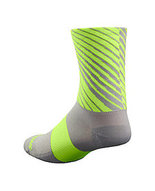 Rbx Tall Sock Ltgry/Neon Yel S/M