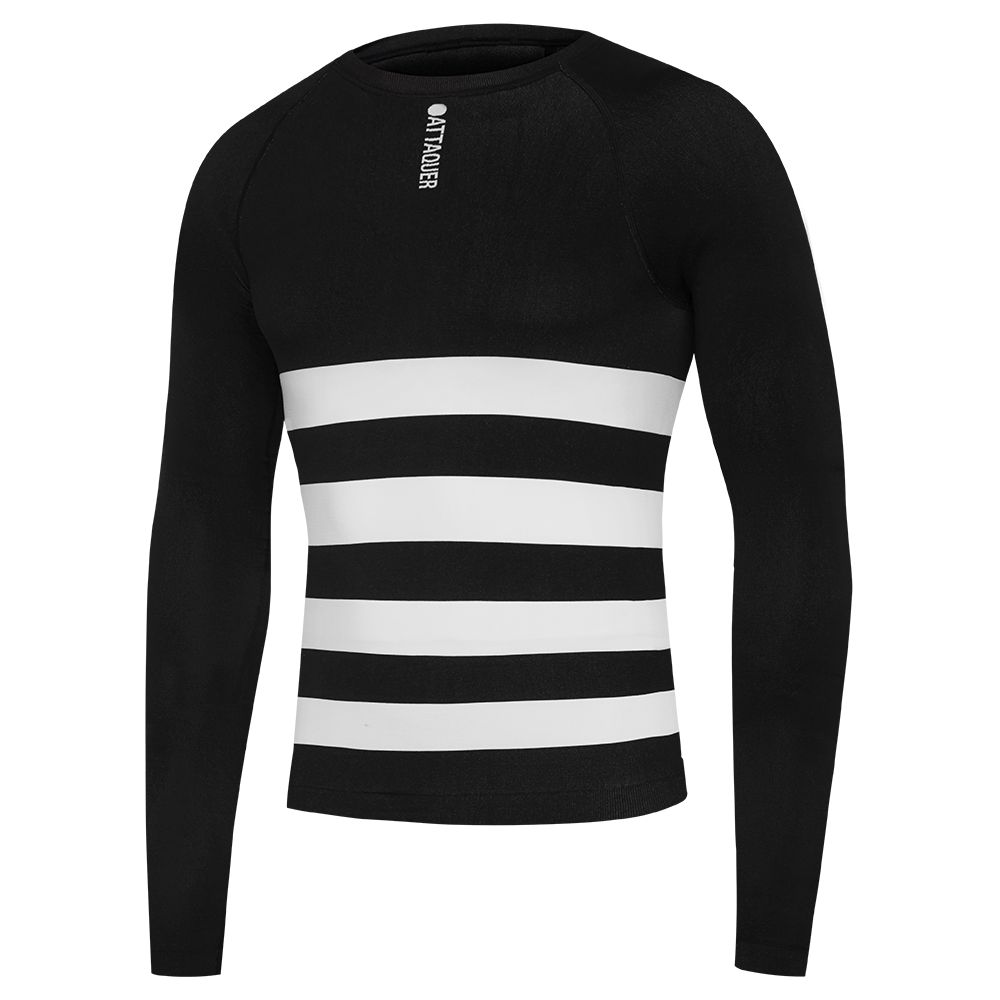 Attaquer Undershirt Winter Weight Long Sleeved Black