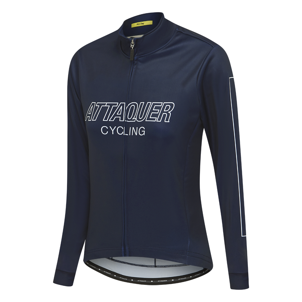 Attaquer Womens All Day Outliner Long Sleeved Jersey Navy