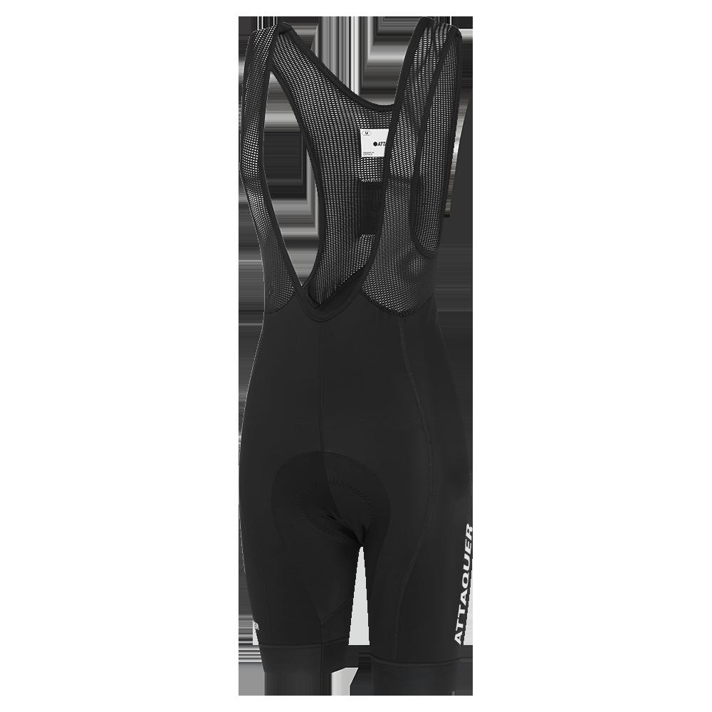 Attaquer Womens Race Bib Short Black Reflective White Logo