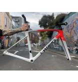 Specialized S-Works Roubaix Frameset - Dove Grey/Rocket Red