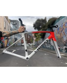 S-Works Roubaix Frameset - Dove Grey/Rocket Red