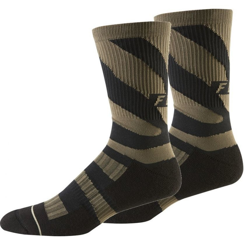 "Fox Racing FOX 8"" TRAIL CUSHION SOCK DIRT S/M"