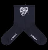 Attaquer Socks Skull Logo Navy
