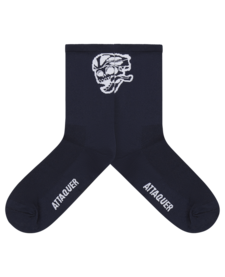 Socks Skull Logo Navy