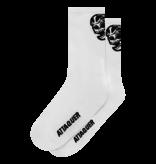 Attaquer Soccks Skull Logo White