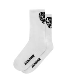 Socks Skull Logo White