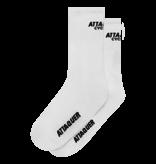 Attaquer Socks Club Logo White