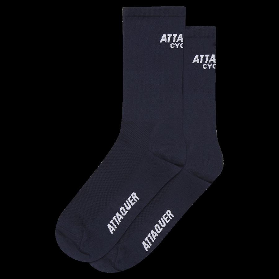Attaquer Socks Club Logo Navy
