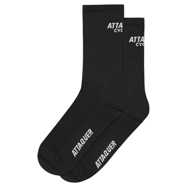 Attaquer Socks Club Logo Black
