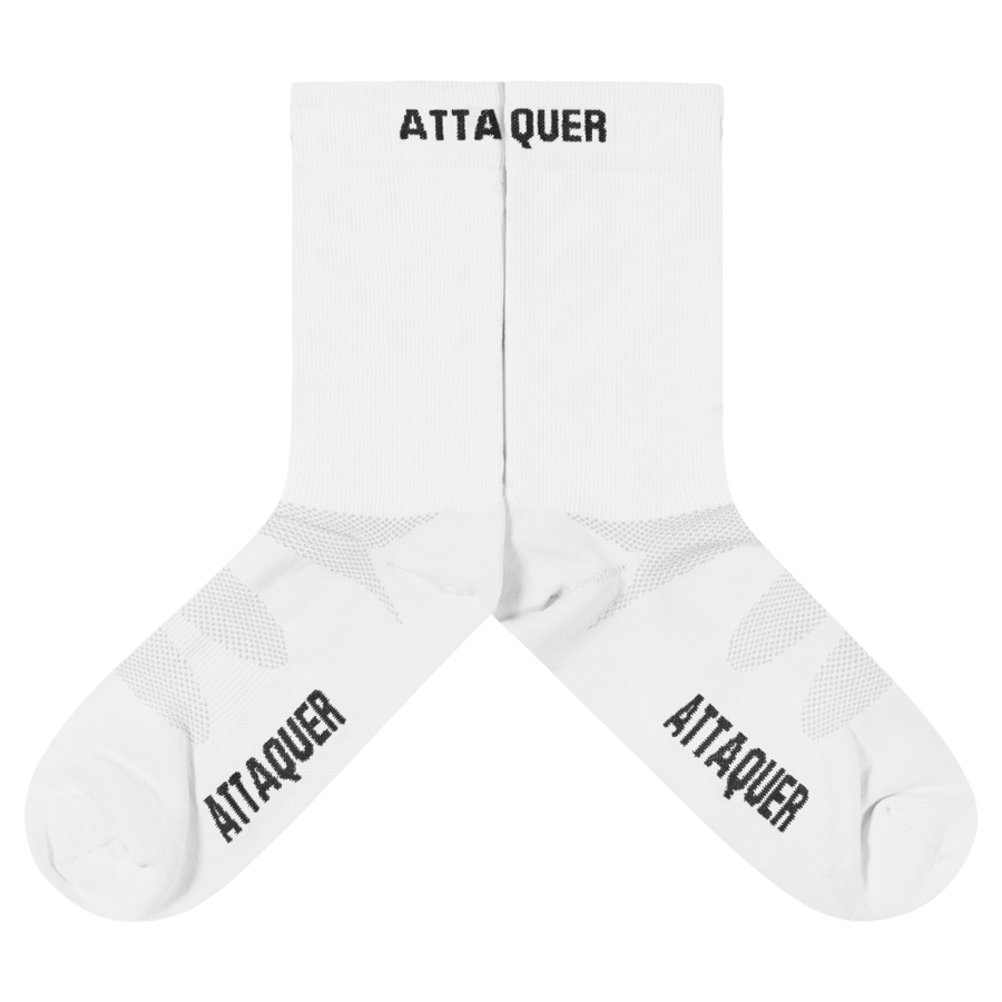 Attaquer Socks Race ULTRA+ Logo White