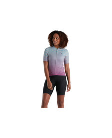 SL Jersey - Bicycledelics Short Sleeve WMN Ice Papaya/Blue