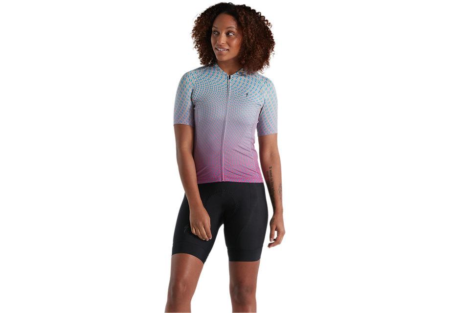 Specialized SL Jersey - Bicycledelics Short Sleeve WMN Ice Papaya/Blue