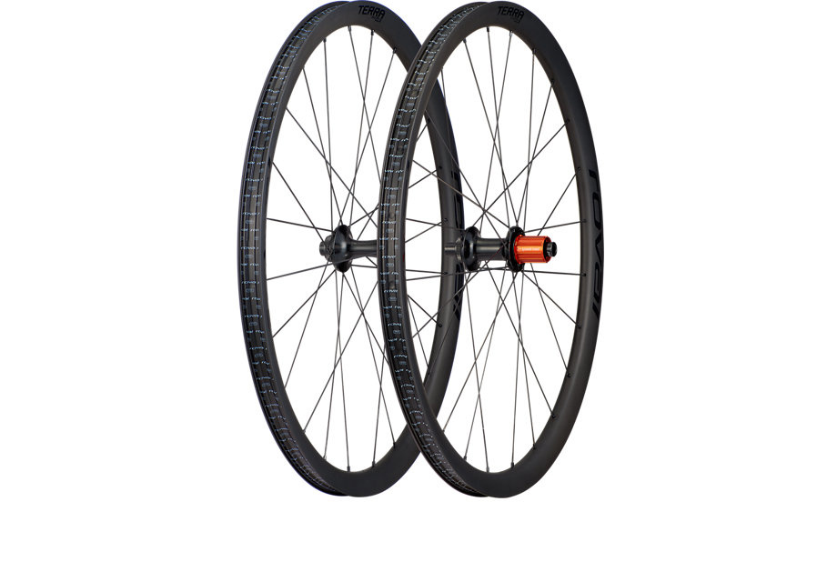 Specialized TERRA CLX BOOST WHEELSET 700C SATIN CARBON/GLOSS BLK