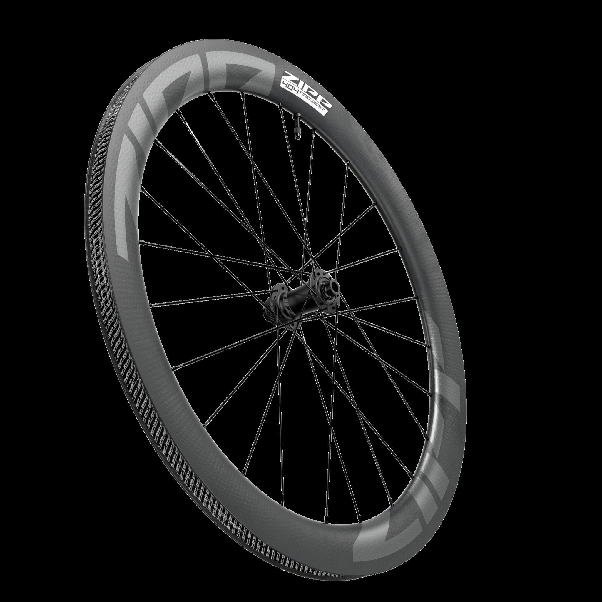 Zipp ZIPP 404 Firecrest Tubeless Disc CL Front Wheel 12X100