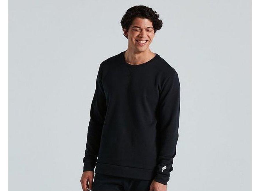 Legacy Crewneck Long Sleeve Sweater - Black
