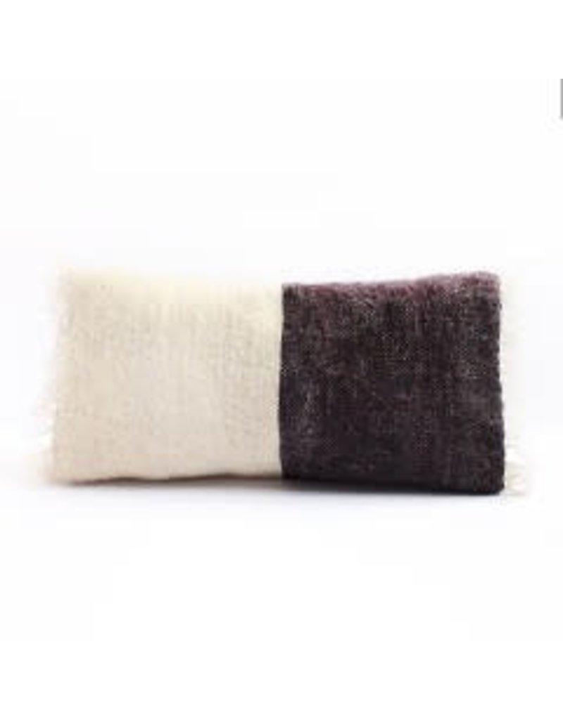 Saraka Wool Cushion | Potters Clay +  Natural w insert | 13 x 22