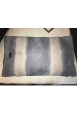 Gamma | Leather Pillow Grey-Blue