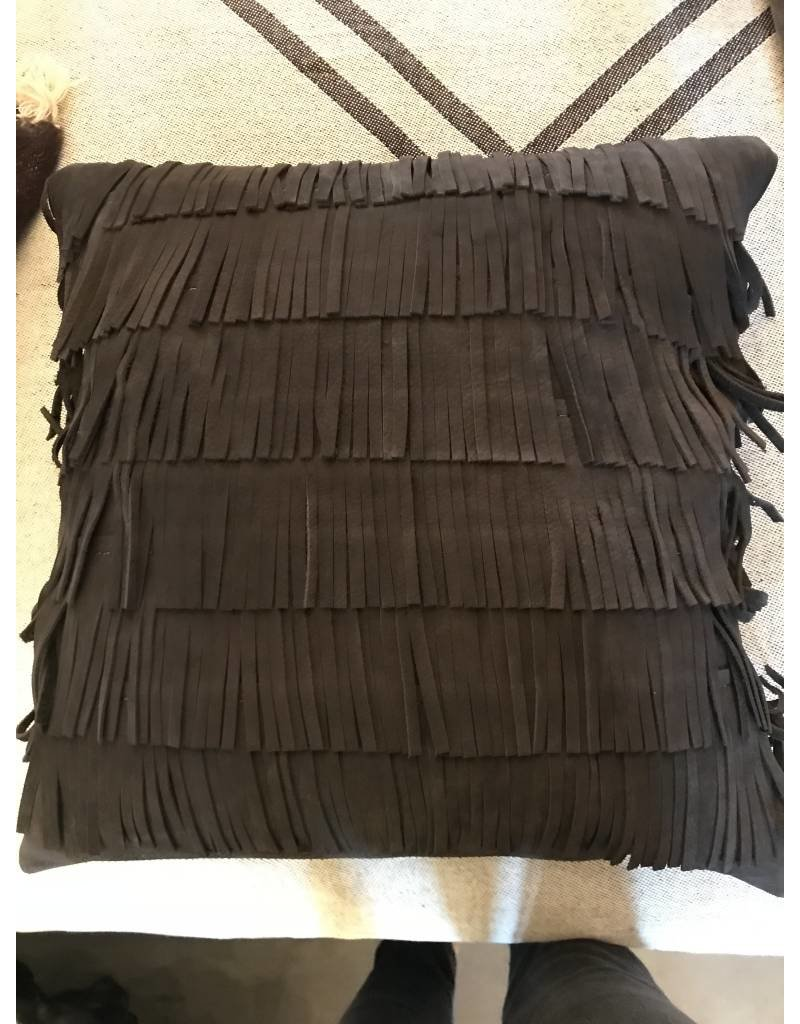 Gamma| Marilyn Leather Pillow Anthracite