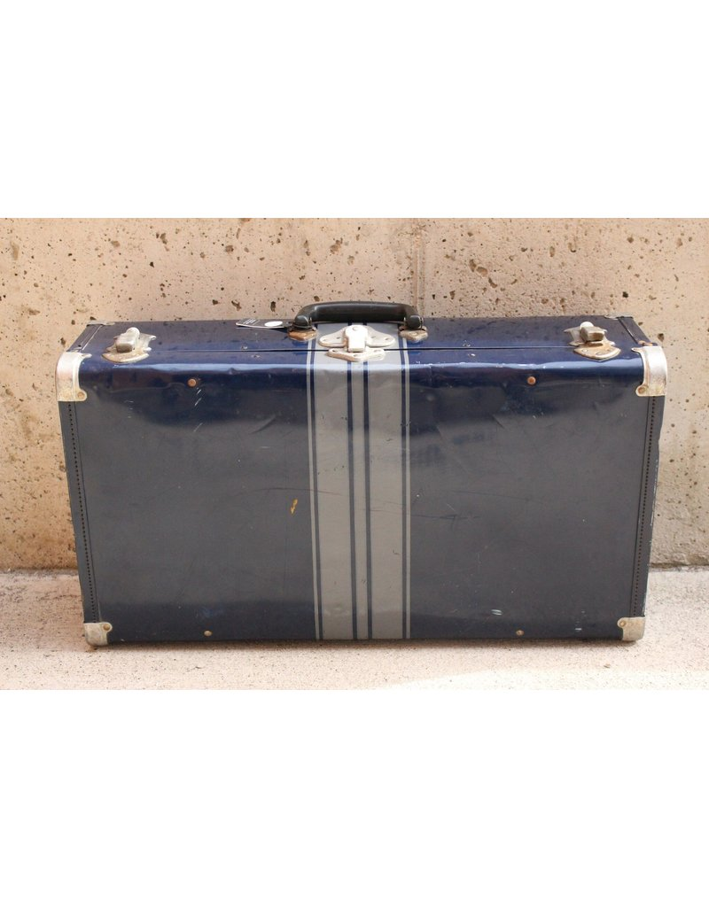 Blue Antique Suitcase