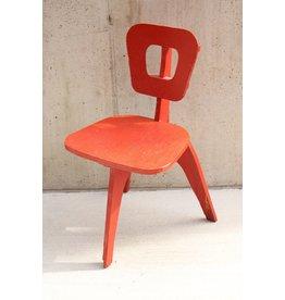 3 Leg Red Chair
