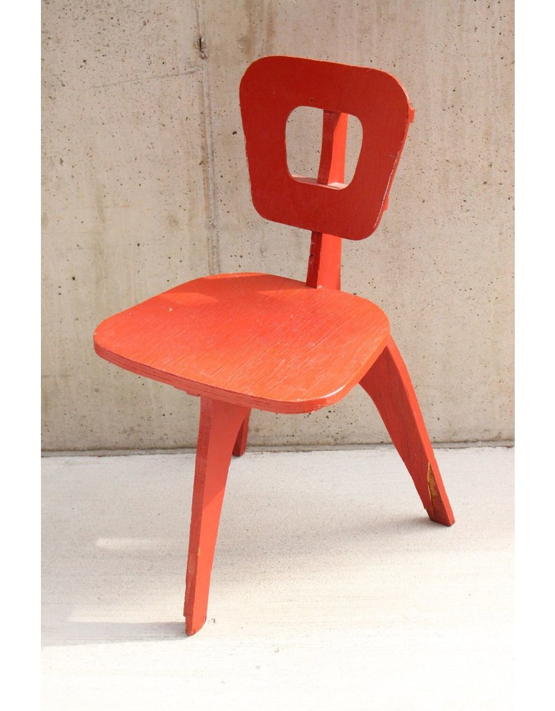 3 Leg Red Chair