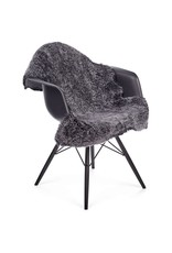 Antracite Sheepskin - short-wool - curly - 90cm
