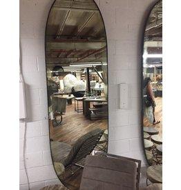 "Oval Mirror Antique TX 102"" x 31"""