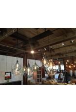 7 Light Glass Canopy Chandelier