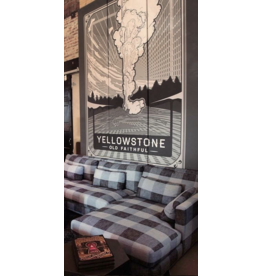 Cyrus | Vintage Yellowstone Postcard Tryptich Panels