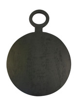 Brushed Black Wood Round Board - extra large