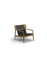 Archi Lounge Chair 102994 Natural Teak, Ravin Rope Fabric: Fife Canvas Grey, B