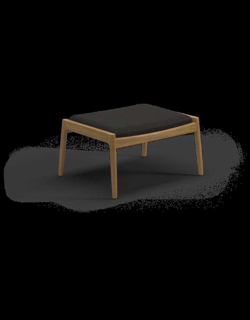 Archi Ottoman 102996 Teak Fabric: Fife Canvas Grey, B