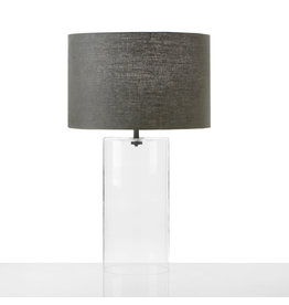 Cisco Brothers Cylinder Table Lamp Glass: Clear