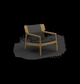 Archi Lounge Chair 102994 Teak Frame, Raven Rope, Mez Coal Fabric, Grade C