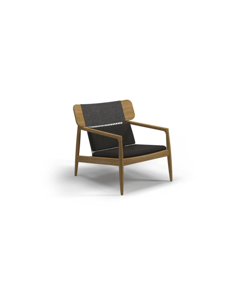 Archi Lounge Chair 102994 Teak Frame, Raven Rope, Mez Coal Fabric, Grade C  EVELAND