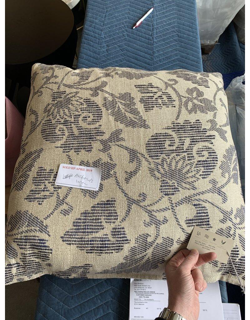 Blue Floral Pillow - Cisco