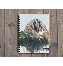 Draw Mountains Spiral Notebook