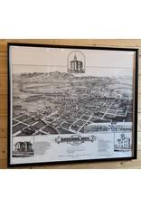 Birds Eye View of the City of Bozeman 1884 - Merritt Dana -70x40
