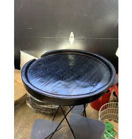 Black Round Tray