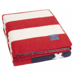 American Flag Wool Throw - red/white/navy