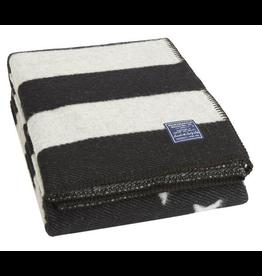 American Flag Wool Throw - black/gray